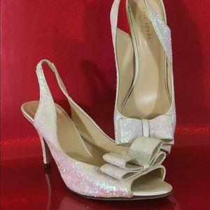 "Kate Spade peep toe heels ""Sawyer"""